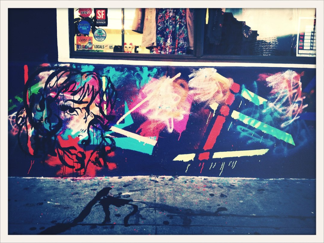 Mural Painted by Me Outside of 31 Rax in The Mission San Francisco